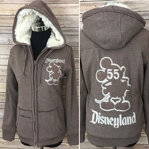 Disney 50th Mickey Mouse sherpa hoodie sweater zip